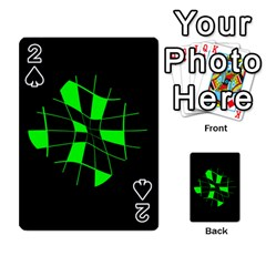 Green Abstract Flower Playing Cards 54 Designs