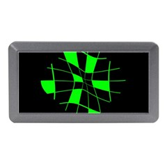 Green Abstract Flower Memory Card Reader (mini) by Valentinaart