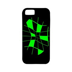 Green Abstract Flower Apple Iphone 5 Classic Hardshell Case (pc+silicone) by Valentinaart