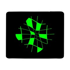 Green Abstract Flower Samsung Galaxy Tab Pro 8 4  Flip Case by Valentinaart