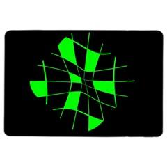 Green abstract flower iPad Air 2 Flip by Valentinaart