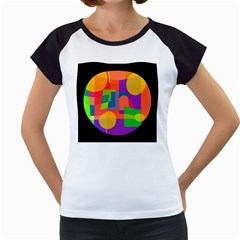 Colorful Circle  Women s Cap Sleeve T by Valentinaart