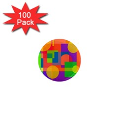 Colorful Circle  1  Mini Magnets (100 Pack)  by Valentinaart