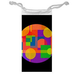 Colorful Circle  Jewelry Bags by Valentinaart