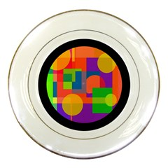 Colorful Circle  Porcelain Plates by Valentinaart