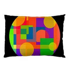 Colorful circle  Pillow Case by Valentinaart