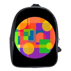 Colorful Circle  School Bags(large)  by Valentinaart