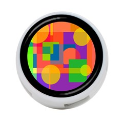 Colorful Circle  4 Port Usb Hub (one Side) by Valentinaart