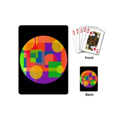 Colorful Circle  Playing Cards (mini)  by Valentinaart