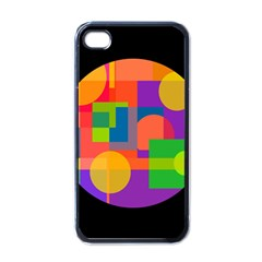 Colorful Circle  Apple Iphone 4 Case (black) by Valentinaart