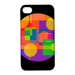 Colorful Circle  Apple Iphone 4/4s Hardshell Case With Stand by Valentinaart