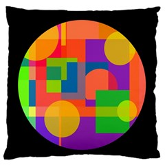 Colorful Circle  Standard Flano Cushion Case (one Side) by Valentinaart