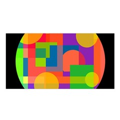 Colorful Circle  Satin Shawl by Valentinaart