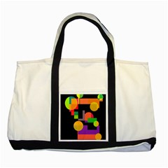 Colorful abstraction Two Tone Tote Bag by Valentinaart