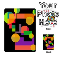 Colorful Abstraction Multi Purpose Cards (rectangle)