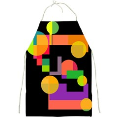 Colorful Abstraction Full Print Aprons by Valentinaart