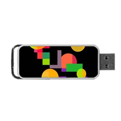 Colorful Abstraction Portable Usb Flash (two Sides) by Valentinaart