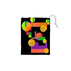 Colorful abstraction Drawstring Pouches (XS)  by Valentinaart