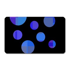 Blue Circles  Magnet (rectangular) by Valentinaart
