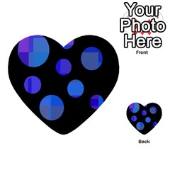 Blue Circles  Multi Purpose Cards (heart)