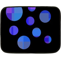 Blue circles  Double Sided Fleece Blanket (Mini)