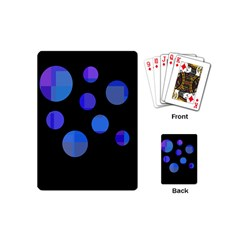 Blue Circles  Playing Cards (mini)  by Valentinaart