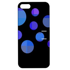 Blue Circles  Apple Iphone 5 Hardshell Case With Stand by Valentinaart