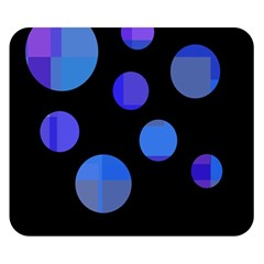 Blue Circles  Double Sided Flano Blanket (small)  by Valentinaart