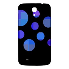 Blue Circles  Samsung Galaxy Mega I9200 Hardshell Back Case by Valentinaart