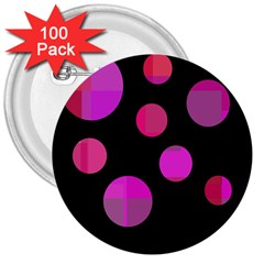 Pink Abstraction 3  Buttons (100 Pack)  by Valentinaart