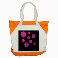 Pink Abstraction Accent Tote Bag by Valentinaart