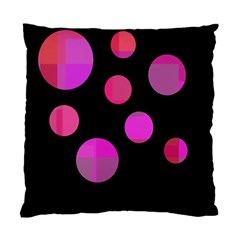 Pink Abstraction Standard Cushion Case (one Side) by Valentinaart