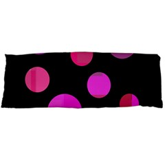 Pink Abstraction Body Pillow Case (dakimakura) by Valentinaart
