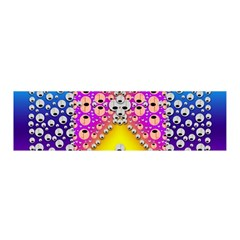 Music Tribute In The Sun Peace And Popart Satin Scarf (oblong) by pepitasart