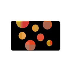 Orange Abstraction Magnet (name Card) by Valentinaart