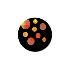 Orange Abstraction Golf Ball Marker (4 Pack) by Valentinaart