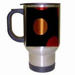Orange Abstraction Travel Mug (silver Gray) by Valentinaart