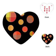Orange Abstraction Playing Cards (heart)  by Valentinaart