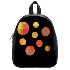 Orange Abstraction School Bags (small)  by Valentinaart