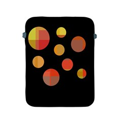 Orange Abstraction Apple Ipad 2/3/4 Protective Soft Cases by Valentinaart