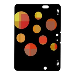 Orange Abstraction Kindle Fire Hdx 8 9  Hardshell Case by Valentinaart