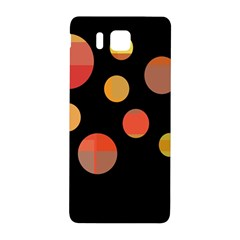 Orange Abstraction Samsung Galaxy Alpha Hardshell Back Case by Valentinaart