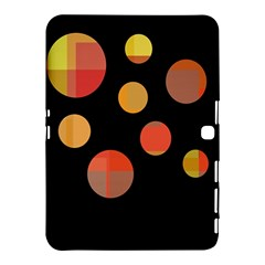 Orange Abstraction Samsung Galaxy Tab 4 (10 1 ) Hardshell Case  by Valentinaart