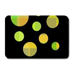 Green Abstract Circles Plate Mats by Valentinaart