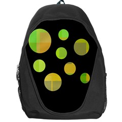 Green Abstract Circles Backpack Bag by Valentinaart