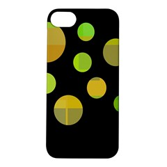 Green Abstract Circles Apple Iphone 5s/ Se Hardshell Case by Valentinaart