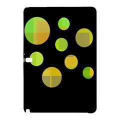 Green Abstract Circles Samsung Galaxy Tab Pro 12 2 Hardshell Case by Valentinaart