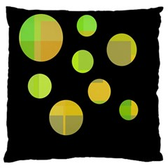 Green abstract circles Standard Flano Cushion Case (Two Sides)