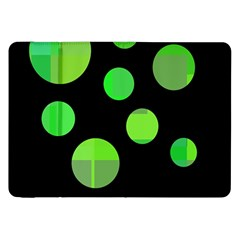 Green Circles Samsung Galaxy Tab 8 9  P7300 Flip Case by Valentinaart