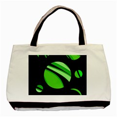 Green Balls   Basic Tote Bag by Valentinaart